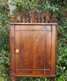 How nice is this little Hanging Corner Cupboard / Curio Cabinet / by CuriosAnCollectibles, £60.00