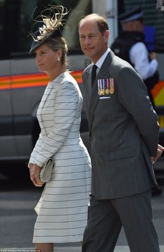 The Earl and Countess of Wessex arrive at the event, which has been described as 'emotiona...