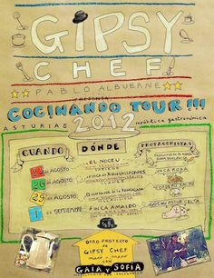 Gipsy Chef, Cocinando Tour 2012