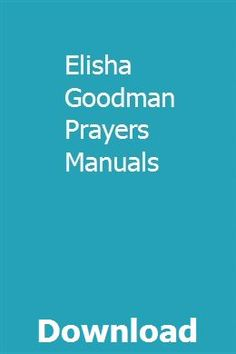 8 Best Elisha Goodman images in 2018 | Prayer verses, Bible