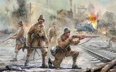 This is the Scale Romanian Infantry Plastic Model Kit from Zvezda Military Figures, Military Diorama, Poland Ww2, Army Drawing, Crimean War, Ww2 Pictures, Ww2 History, Dieselpunk, World War Two
