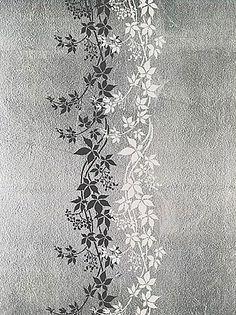 Cutting Edge Stencils - Virginia Creeper Border/Stripe Stencil. Maybe as a backsplash treatment?
