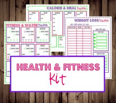 Health & Fitness Kit- calorie, fitness, water, & weight loss trackers