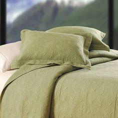 Sage Matelasse Throw Pillow