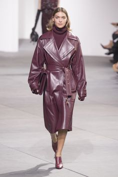 Michael Kors' Oversized Leather Trench - '80s Trends Making a Comeback on the Runway - Photos