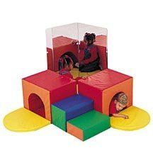 Corner Tunnel Climber by Children's Factory[r]. $483.77. The Corner Tunnel Climber is a fun addition to your childcare facility. Two tunnels connect with durable hook & loop strips to form a corner hiding spot. Optional mirrors add to the fun and excitement. This soft play set has a durable vinyl cover that wipes clean between uses. And the firm foam core will retain its shape through years of play. All materials used are GREENGUARD certified and pass safety an...