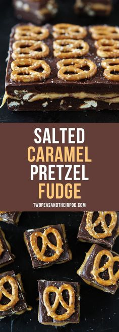 Salted Caramel Pretzel Fudge-this easy microwave fudge is the perfect treat for the holidays! #holidays #Christmas #fudge #candy