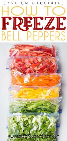 Freezing Vegetables, Frozen Vegetables, Freezing Fruit, Freezing Soup, Freezer Cooking, Freezer Meals, Freezer Recipes, Cooking Tips, Crockpot Meals