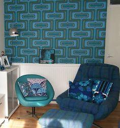 1960's 1970's vintage wallpaper geometric mod - I spy my cushions - Jodi-jo Retro