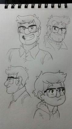 In class I doodled fords of several ages. Art by http://busket.tumblr.com/