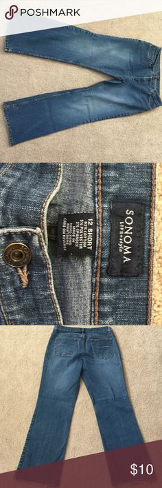 Sonoma Boot Cut Jeans Good condition. Has some freying on hems on back from dragging slightly. Sonoma Jeans Boot Cut