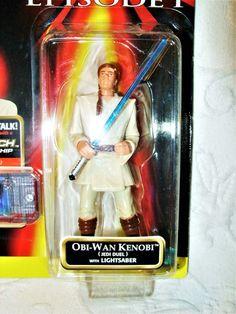 Hasbro Star Wars Episode 1 (Jedi Duel) Obi Wan Kenobi CommTech Action Figure NEW #Hasbro