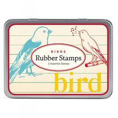 Cavallini Birds Rubber Stamp Set