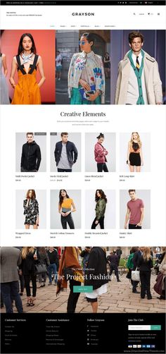 Grayson is a stunning #WordPress WooCommerce theme for stylish and versatile #fashion #shop  eCommerce website with 23 different homepages Download now➩ https://themeforest.net/item/grayson-a-stylish-and-versatile-shop-theme/17794719?ref=Datasata