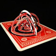 ? ¿ ? ¿ ? (28/52)  @theory11 #mysterybox #theory11 #MysteryBoxMonday #playingcards #playingcardart #kirigami #popup #popupcards #badrobot #jjabrams #redmysterybox #mysteryboxred #cut #fold #poker #art