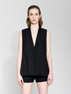 Asymmetrical Black Vest | Serafin Andrzejak | Shop | NOT JUST A LABEL