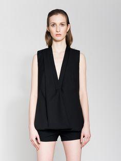 Asymmetrical Black Vest