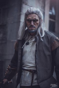 Geralt Cosplay by Stylouz   www.facebook.com/stylouzcosplay   #Geraltcosplay #Witchercosplay #Geraltofriviacosplay #Thewitchercosplay Witcher 3 Geralt, The Witcher, Geralt Of Rivia Cosplay, Game Of Thrones Characters, Facebook, Fictional Characters, Fantasy Characters