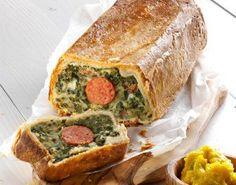 Brood van gewokte boerenkool