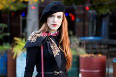 Outfit | Dutch Parisienne - Beret and vintage silk scarf - Retro Sonja Fashion Blog - www.retrosonja.com