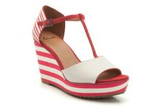 Womens Smart Sandals - Scent Flower in Red Combi from Clarks shoes