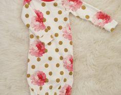 baby gown baby boy baby boy gown newborn by LittleBeansBabyShop