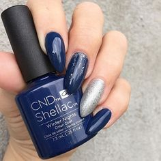 Winter Nights and a touch of sparkle ❄️ #CNDWORLD #CNDSHELLAC