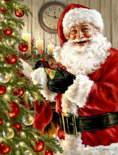 gif p re no l santa claus papai noel - Page 8 Merry Christmas To All, Christmas Scenes, Santa Christmas, Christmas Pictures, Christmas Greetings, Beautiful Christmas, All Things Christmas, Christmas Time, Vintage Christmas