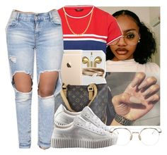 """"""""""" by eazybreezy305 ❤ liked on Polyvore featuring Louis Vuitton, Puma, Sterling Essentials, Thom Browne, cute, Trendy and 2016"""