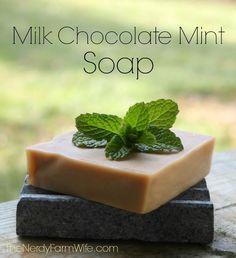 Milk chocolate mint soap recipe