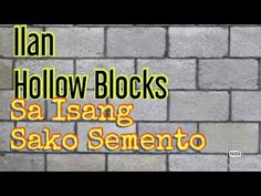 ilan Hollow Blocks sa 1 Sako Semento, CHB LAYING MORTAR - YouTube Construction Business, Education, Youtube, Onderwijs, Learning, Youtubers, Youtube Movies