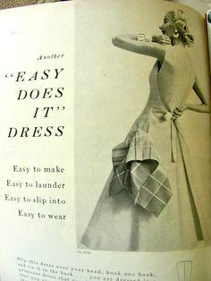 Vogue Pattern Book, June-July 1954 featuring Vogue 8338