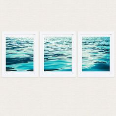 Check out this item in my Etsy shop https://www.etsy.com/listing/252608151/triptych-waves-prints-aqua-blue-ocean
