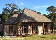 Plan 56352SM: French Country Home Plan With Bonus Room | Acadian ...