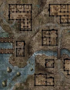Village on the Rock Waterfront - Floor Plan | JAE Studio, The Art of Jason Engle | CARTOGRAPHY