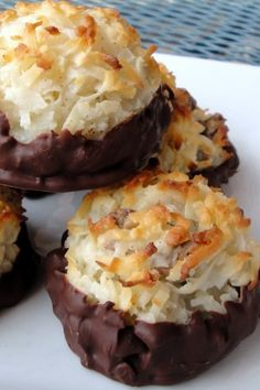 Chocolate Chip Chocolate Covered Macaroons