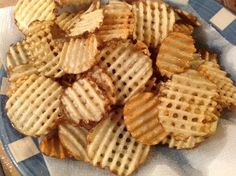 Homemade waffle fries to pair with copy cat Chick-Fil-A sandwiches Snack Recipes, Cooking Recipes, Snacks, Cat Recipes, Delicious Desserts, Yummy Food, Yummy Yummy, Waffle Maker Recipes, Homemade Waffles