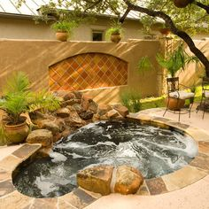 Backyard Spa Design Ideas, Pictures, Remodel, and Decor - page 6 Jacuzzi Outdoor, Outdoor Spa, Outdoor Living, Outdoor Fire, Spa Design, Design Ideas, Tile Design, Design Inspiration, In Ground Spa