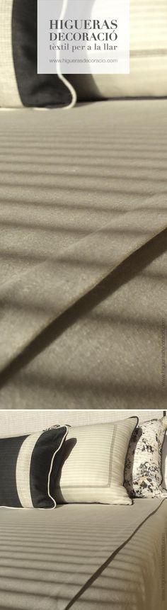 #Cobre cama de tejido suave y muy cálido. Viste la #cama con almohadas de diferentes medidas.  #Cobre llit de teixit suau i molt càlid. Vesteix el #llit amb coixins de diferents mides. www.higuerasdecoracio.com