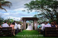 Getting married in the middle of El Yunque Rainforest. Emily & Orlys Wedding @ Hacienda Siesta Alegre