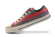 #Converse All Star Chuck #Taylor #Shoes USA #Flag Endless Lo-top Red-Grey Canvas