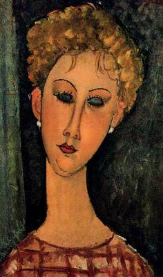 Amédéo Modigliani - Artist XXème - Modern Art i - Portrait of a Woman 1917 Amedeo Modigliani, Modigliani Portraits, Modigliani Paintings, Italian Painters, Italian Artist, Modern Art Paintings, Art Moderne, Portrait Art, Female Portrait