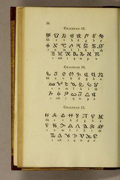 """Pantographia"" by Edmund Fry—Chaldean alphabets, more strange writing systems."