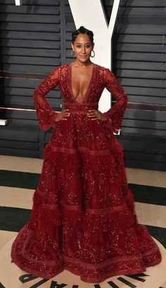 The After-Party Looks Were Better Than The Dresses At The Oscars Tracee Ellis Ross in red.