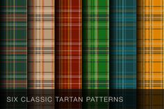 Classic Tartan Patterns by shonachica on Creative Market