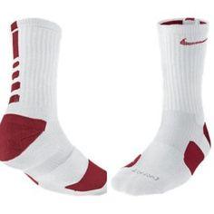 Nike Elite socks white and red