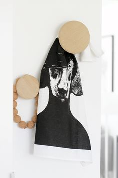 and sixten (black) tea towel by studio lisa bengtsson. // Muuto - The Dots