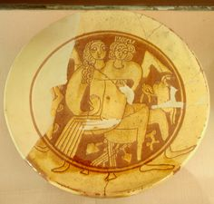 Byzantine incised sgraffito ware | 12th cent.BC Archeological  Museum of Ancient Corinth,Greece