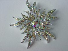 Vintage Brooch Pin Sarah Coventry Aurora Blaze 1967 by wimpyren, $22.00