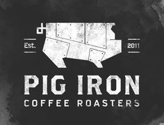 25 Logo Designs to Inspire You | From up North. http://www.pigironcoffee.com roasting@pigironcoffee.com